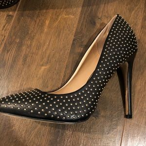 J Gold Beaded Stilettos